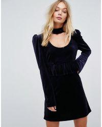 Millie Mackintosh - Velvet Ruffle Dress - Lyst