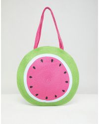 ASOS - Watermelon Print Circle Shopper Bag - Lyst