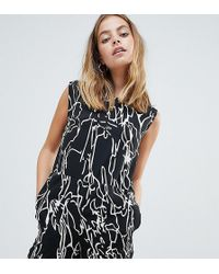 Noisy May Petite - Abstract Floral Print Playsuit - Lyst