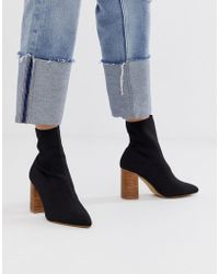 Pimkie - Heeled Boots In Black - Lyst