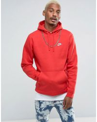 Nike - Roter Kapuzenpullover mit Swoosh-Logo, 804346-657 - Lyst