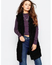 First & I - First And I Clair Sleeveless Faux Fur Gilet - Lyst