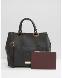 Lipsy - Tote Bag With Contrast Pocket - Lyst