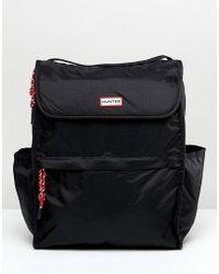 HUNTER - Original Packable Black Backpack - Lyst