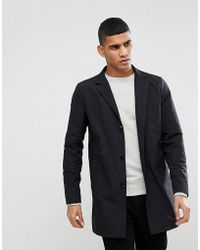 a4d1d6371a1c Lyst - Simon Spurr 10 Button Trench in Black for Men