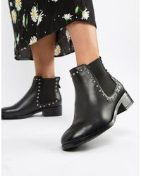 ALDO - Eraylia Stud Chelsea Leather Boots - Lyst