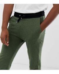 ASOS - Pantalon de jogging ajust en molleton avec taille et chevilles contrastantes - Lyst
