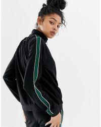Blend She - Candon Sports Tripe Track Top With Cirlcle Zip Puller - Lyst