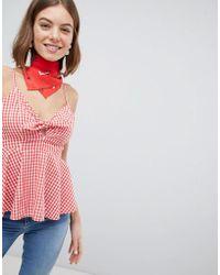 Vero Moda - Check Cami Top - Lyst