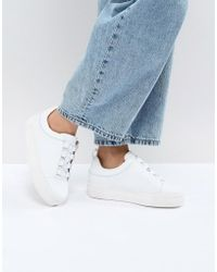 SELECTED - Leather Platform Trainer - Lyst
