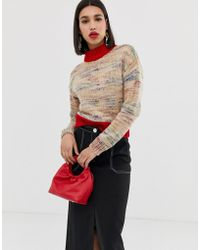 ASOS - High Neck Sweater In Space Dye - Lyst