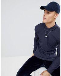 Mango - Man Slim Polo Shirt In Navy - Lyst