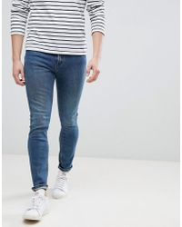 Mango - Man Slim Jeans In Vintage Blue - Lyst