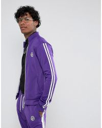 Jaded London - Track Jacket In Purple With Taping - Lyst