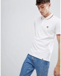 Pretty Green - Tipped Polo In White - Lyst