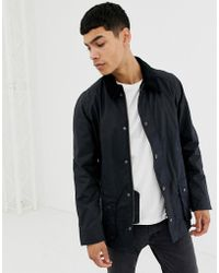 Barbour - Ashby Wax Jacket Navy - Lyst