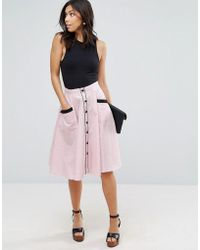 Hell Bunny - Printed Skirt - Lyst