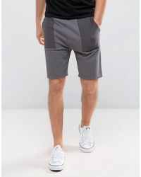 ASOS - Skinny Jersey Shorts With Contrast Panels - Lyst