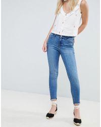 Miss Selfridge - Mid Wash Skinny Jeans - Lyst