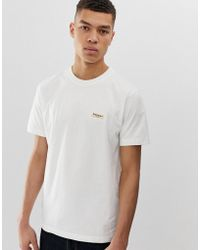 Nudie Jeans Co Daniel Logo T-shirt In Off White