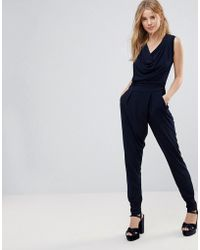 Wal-G   Cowl Front Jumpsuit   Lyst