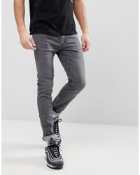 HUGO - 734 Soft Stretch Jeans In Grey - Lyst
