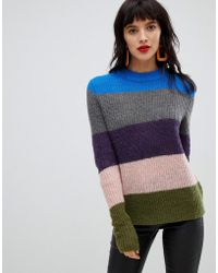 Pieces - Bold Stripe Jumper - Lyst