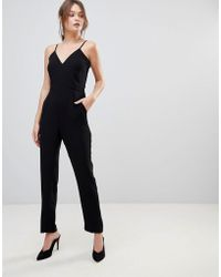Reiss - Bonnie Double Layered Jumpsuit - Lyst