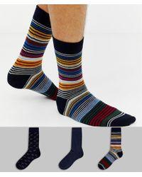 Ben Sherman - 3 Pack Socks In Gift Box - Lyst