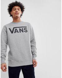Vans - Classic Sweatshirt In Grey V00yx0ady - Lyst