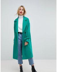 Vero Moda - Coat With Sleeve Detail - Lyst