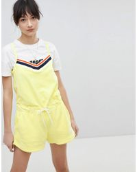Nike - Romper In Yellow Terry Towelling - Lyst