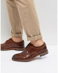 Steve Madden - Gambol Leather Shoes In Cognac - Lyst