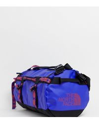 The North Face - Base Camp Duffel Bag Extra Small 31 Litres In Geo- Blue - Lyst