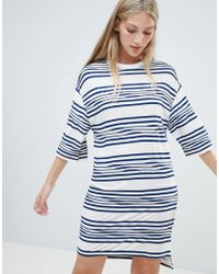 Native Youth - Striped T Shirt Dress - Lyst