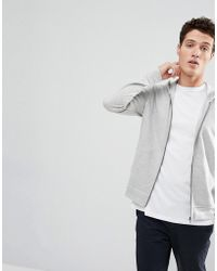 SELECTED - Zip Through Hoodie - Lyst