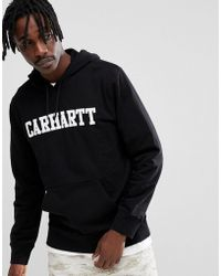 Carhartt WIP - College Hoodie In Black - Lyst
