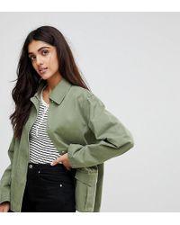 ASOS - Asos Design Tall Washed Cotton Jacket - Lyst