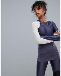 Nike - Nike Pro Hypercool Long Sleeve Glamour Top In Blue - Lyst