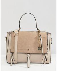 ALDO - Gochnauer Cream Handheld Tote Bag With Tassel And Zip Detail - Lyst