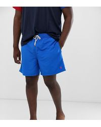 3c6efbdba7 Polo Ralph Lauren - Big & Tall Traveller Player Logo Swim Shorts In Blue -  Lyst