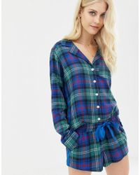 Abercrombie & Fitch - Pyjama Shorts In Tartan With Side Panel - Lyst