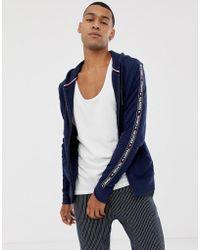Tommy Hilfiger Authentic - Hoodie zippé avec bandes à logo sur les côtés - Bleu marine