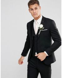SELECTED - Slim Tuxedo Suit Jacket With Satin Lapel - Lyst