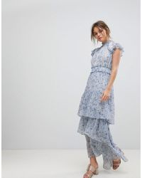 Forever New - Tiered Maxi In Floral Print - Lyst