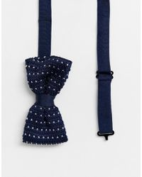 Religion - Wedding Knitted Bow Tie In Polka Dot - Lyst