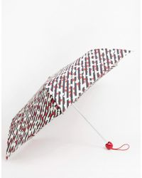 Lulu Guinness - Paraguas con diseo de labios y rayas diagonales de Lulu Guiness - Lyst