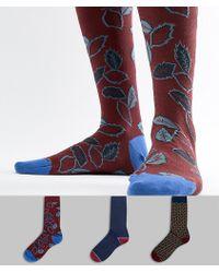 Ted Baker - Socks Gift Set 3 Pack With Stars & Leaf - Lyst
