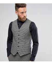 Heart & Dagger - Skinny Waistcoat In Dogstooth - Lyst