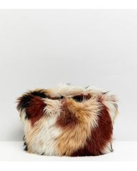 Monki - Faux Fur Multi Colour Hand Bag - Lyst